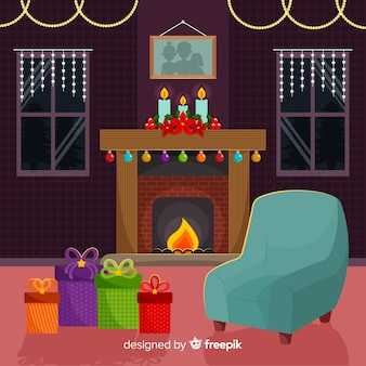 Kaminszene-weihnachtsabbildung