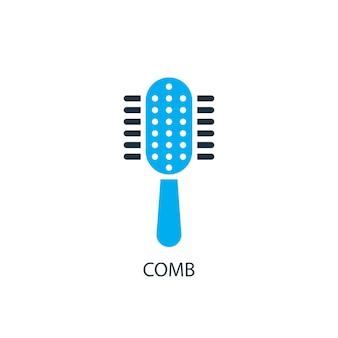 Kamm-symbol. logo-element-abbildung. kammsymbol-design aus 2-farbiger kollektion. einfaches kammkonzept. kann im web und mobil verwendet werden.
