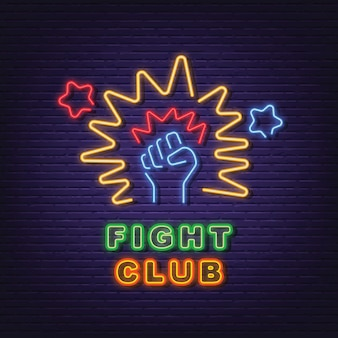 Kampf club neon schild