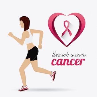 Kampf gegen brustkrebs kampagne