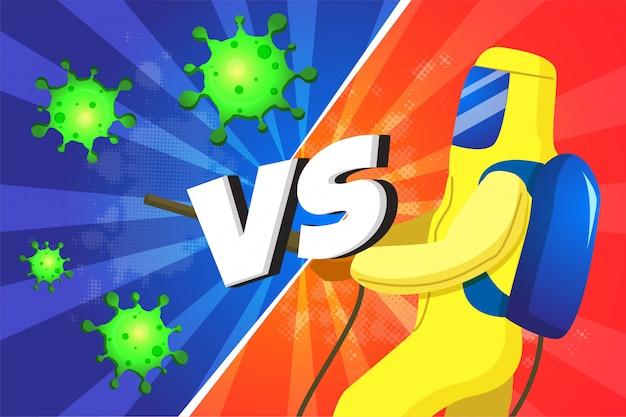 Kampf gegen covid-19 oder coronavirus