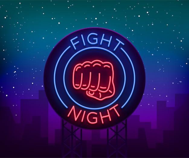 Kampf leuchtreklame, licht nacht plakatwand