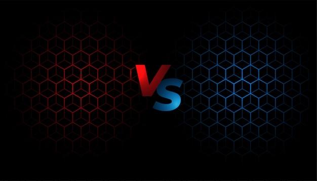 Kampfbildschirm gegen vs hintergrundschablonendesign