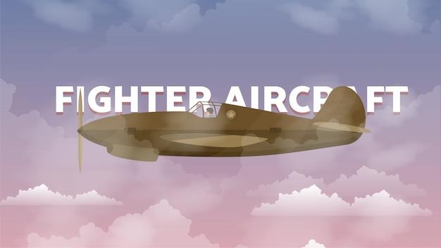 Kampfflugzeug illustration