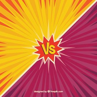 Kampfhintergrund mit klassischem versus