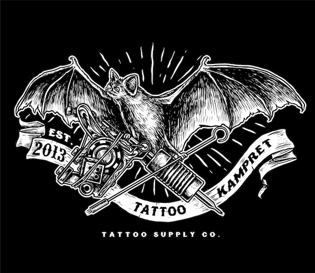 Kampret-tattoo-versorgungslogo
