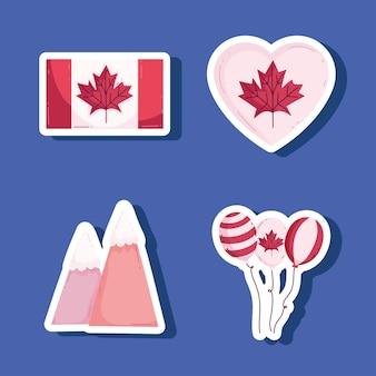 Kanada aufkleber symbol