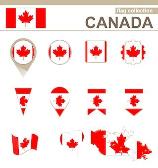 Kanada-flaggen-kollektion, 12 versionen