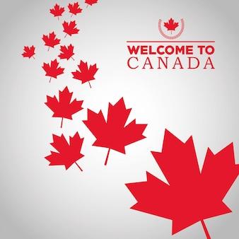 Kanada-land vertreten durch seine flagge des ahornblattes