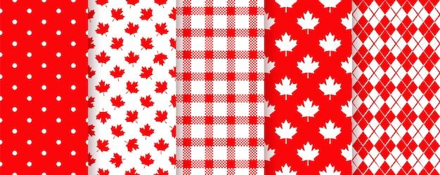 Kanada nahtloses muster gesetzt mit ahornblatt.