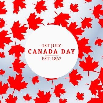 Kanada-tag hintergrund mit blättern