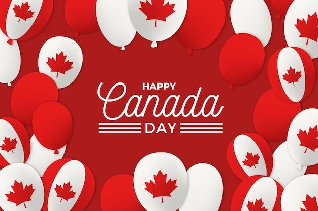 Kanada tag luftballons tapete