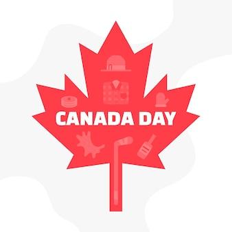 Kanada-tag mit ahornblatt