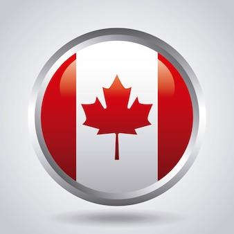 Kanada-tagesaufkleber