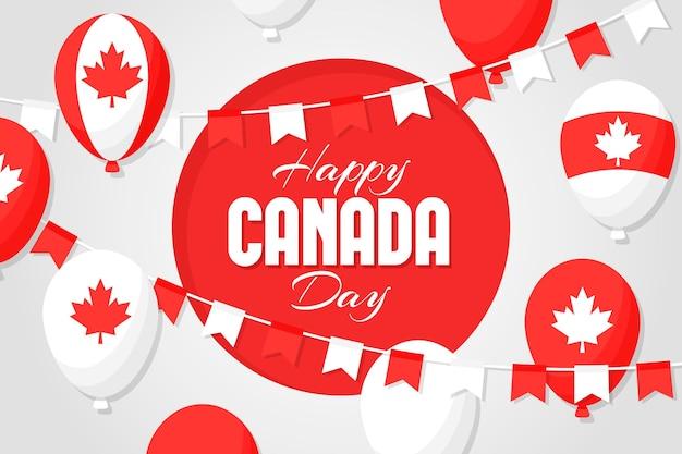 Kanada-tagesballonhintergrund
