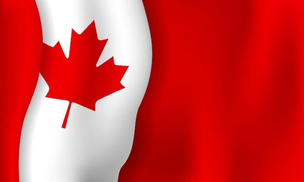 Kanada-tagesfahnenhintergrund der flagge mit kopienraum