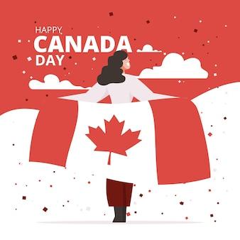 Kanada-tagesfeierillustration