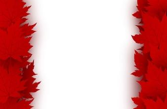 Kanada-Tageshintergrund von den Rotahornblättern lokalisiert auf weißem Hintergrund