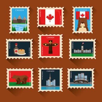 Kanadasammlung briefmarke klassische komposition