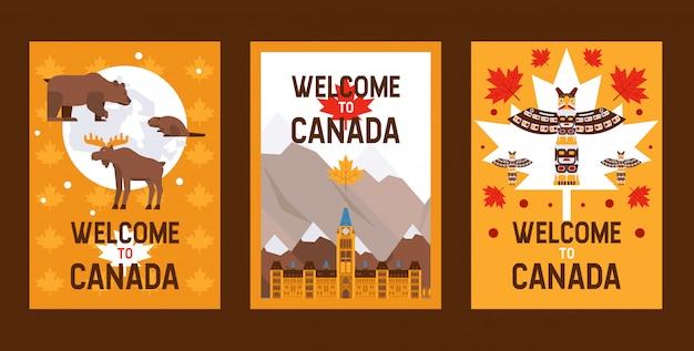 Kanadische symbole und sehenswürdigkeiten