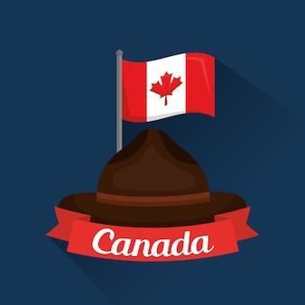 Kanadischer hut-rangerpolizist-flaggenband