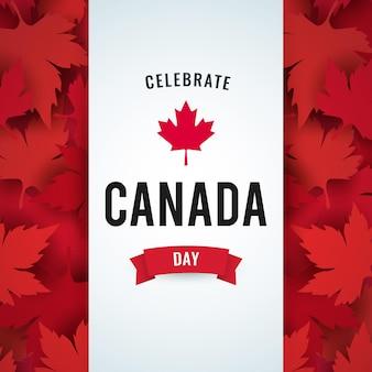 Kanadischer tag mit flachem design