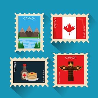 Kanadisches sammlungsbild der briefmarke