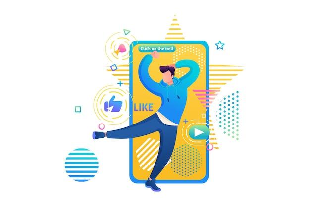 Kanal über den tanz eines jungen, tektonik, freestyle, r&b. webdesign für die tanzausbildung. abonnieren und tanzen lernen. ich werde dir das tanzen beibringen.