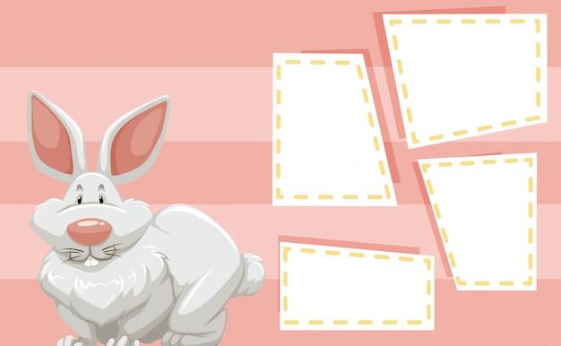 Kaninchen auf hinweis vorlage