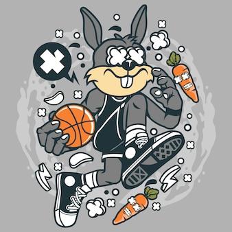 Kaninchen-basketball-spieler