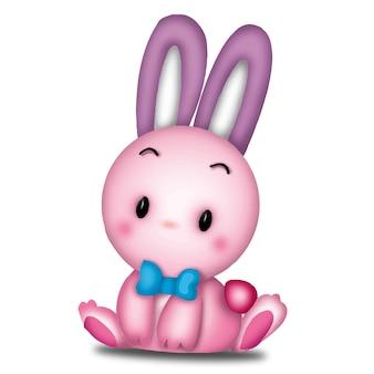 Kaninchen cartoon süße tiere wildes haustier barbie charakter puppe süßes modell emotion art