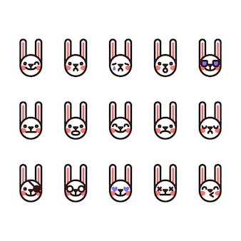 Kaninchen emojis icons