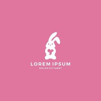 Kaninchen hase liebe logo