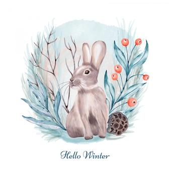 Kaninchen im wald