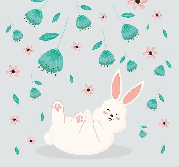 Kaninchen in blumen