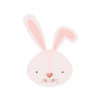 Kaninchen kopf isoliert symbol
