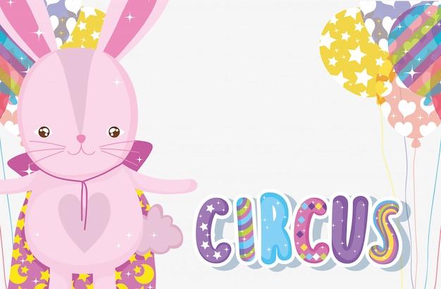 Kaninchen kostüm für zirkus unterhalter und ballons