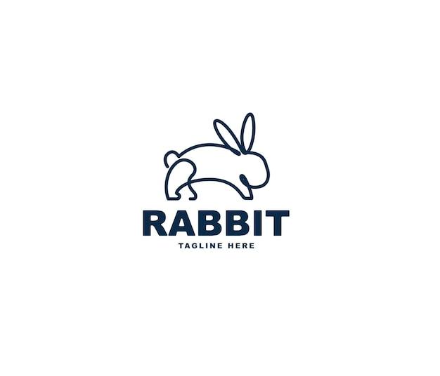 Kaninchen-linien-logo-design