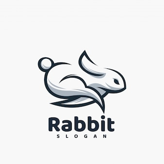 Kaninchen-logo gebrauchsfertig