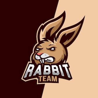 Kaninchen maskottchen esport logo