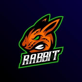 Kaninchen maskottchen logoesport gaming
