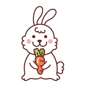 Kaninchen mit Karotte