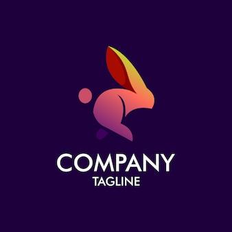 Kaninchen modernes logo