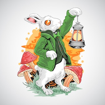 Kaninchen ostern und st. patricks tagesfrühjahrszeit