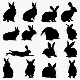 Kaninchen silhouetten