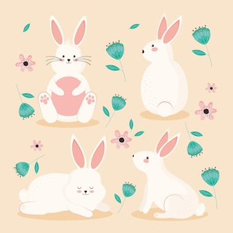 Kaninchen und blumen