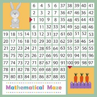 Kaninchen- und karottenpuzzlespiel, farbvektorillustration.