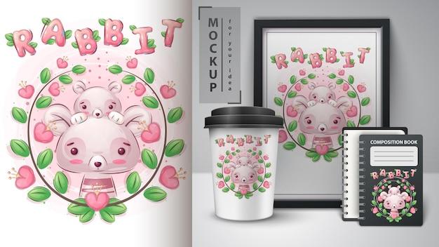 Kaninchenblume - plakat und merchandising