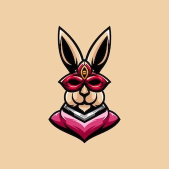 Kaninchenmaske maskottchen design