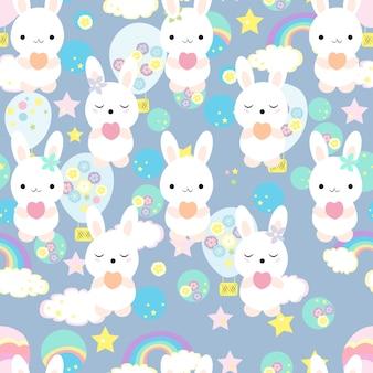 Kaninchenmuster drucken
